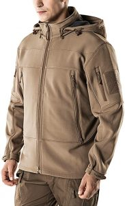CQR Mens Winter Tactical Military Jackets Lightweight Waterproof Fleece Lined Softshell Hunting Jacket 1