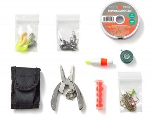 OFF GRID TOOLS Mini Fishing B.O.S.S Bug Out Bag Survival Fishing Kit 300x227 1