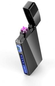 Dual Arc Plasma Lighter with Battery Indicator and Gift Box